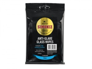 SWPS0011A Anti-Glare Glass Wipes Pack of 20