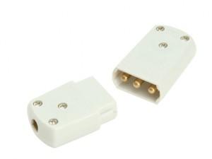 White 10A 3 Pin Plug & Socket