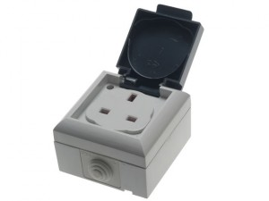 IP54 Outdoor Socket 13A 1-Gang