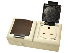 IP54 Outdoor Socket 13A 2 Gang