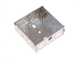 Metal Back Box 1 Gang 25mm Depth - Carded