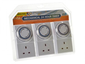 Basix 24h Mechanical Plug In Timer 3 Pack