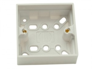 Surface Pattress Box 1 Gang 30mm Depth