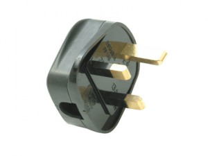 Black Heavy-Duty Rubber Plug 13A Fused