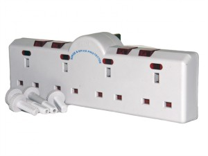 4 Way Converter 240 Volt Individually Switched with Neon Indicators