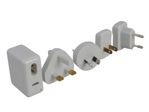 Worldwide Travel USB Adaptor, Charger Kit