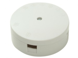 White 20A 4 Terminal Heavy-Duty Junction Box