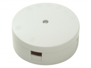 White 30A 3 Terminal Heavy-Duty Junction Box