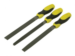 File Set 3 Piece Flat , 1/2 Round, 3 Square 200mm (8in)