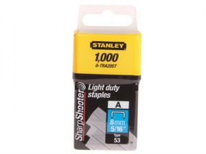 TRA2 Light-Duty Staple 8mm TRA205T Pack 1000