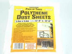 Polythene Dust Sheets 3.6 x 3.6m (3)
