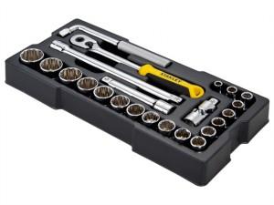 1/2in Drive 12 Point Metric Socket Module 23 Piece