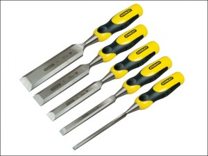 DYNAGRIP™ Bevel Edge Chisel with Strike Cap Set of 5