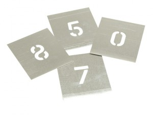 Set of Zinc Stencils - Figures 4in