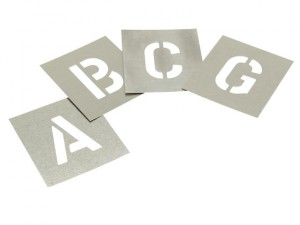 Set of Zinc Stencils - Letters 1.1/2in