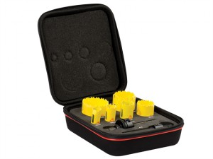 KDC07021 Deep Cut Bi-Metal Plumber's Holesaw Kit 9 Piece