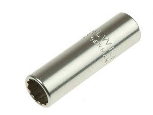 Bi-Hexagon Socket Extra Deep 1/4in Drive 8mm