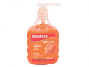Orange Hand Cleaner Pump Top Bottle 450ml