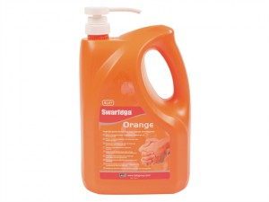 Orange Hand Cleaner Pump Top Bottle 4 litre