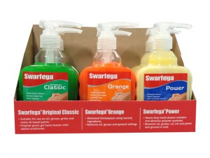 6 Assorted Hand Cleaner Pump Top Bottles 450ml