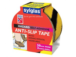 Anti-Slip Tape 50mm x 3m Black & Yellow