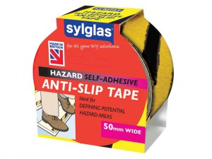 Anti-Slip Tape 50mm x 18m Black & Yellow Hazard