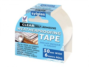 Clear Weatherproofing Tape 50mm x 6m Roll