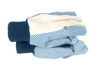 TGL404 Mens Dotted Canvas Gloves