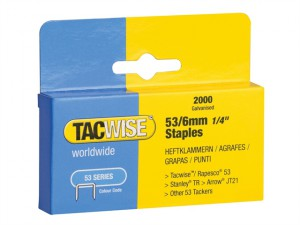 53 Light-Duty Staples 6mm (Type JT21, A) Pack 2000