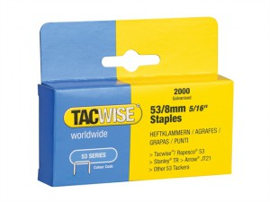 53 Light-Duty Staples 8mm (Type JT21, A) Pack 2000