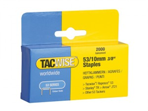 53 Light-Duty Staples 10mm (Type JT21, A) Pack 2000