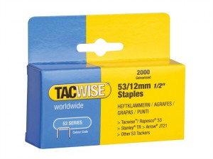 53 Light-Duty Staples 12mm (Type JT21, A) Pack 2000