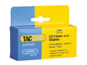 53 Light-Duty Staples 14mm (Type JT21, A) Pack 2000