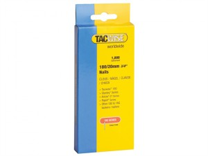 180 18 Gauge 20mm Nails Pack 1000