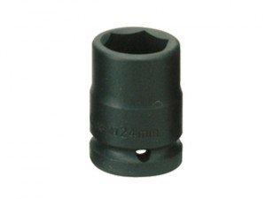 Impact Socket Hexagon 6 Point 1/2in Drive 11mm