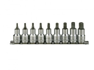 M1213TX Socket Clip Rail Set of 9 Internal Torx 1/2in Drive