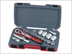 T1221 Socket Set of 21 Metric 1/2in Drive