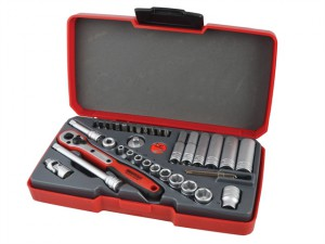 T1436 Socket Set of 36 Metric 1/4in Drive