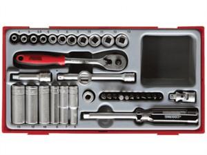 TT1435 35 Piece Socket Set 4-13mm - 1/4in Drive
