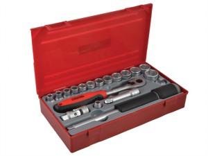 TT3819 19 Piece Reg Metric Socket Set 3/8in Drive