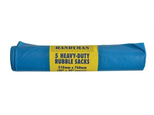 Handyman Heavy-Duty Blue Rubble Sacks (5)