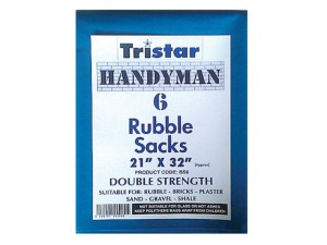 Heavy-Duty Blue Rubble Sacks (6) 21 x 32in
