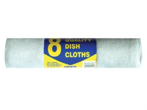 Cotton Dish Cloths 30 x 36cm (Pack of 8)