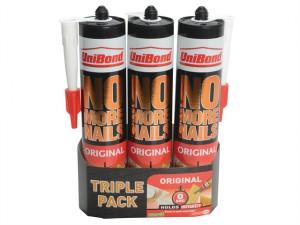 No More Nails Interior Cartridge Triple Pack