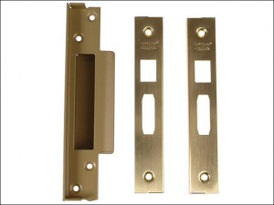 StrongBOLT 2200 Mortice Sashlock Rebate Kit 13mm Satin Brass Box