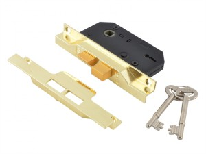 2242 2 Lever Mortice Rebated Sashlock Electro Brass 65.5mm 2.5in Box