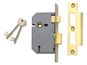 2277 3 Lever Mortice Sashlock Satin Chrome 65mm 2.5in Visi