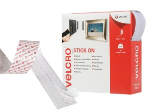 VELCRO® Brand Stick On Tape 20mm x 10m White