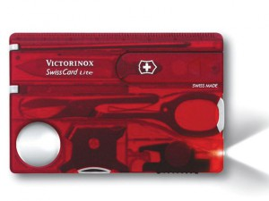 Swiss Card Lite Translucent Red Blister Pack