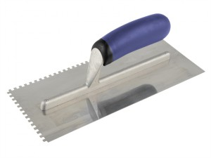 Professional Notched Adhesive Trowel 4mm Stainless Steel 11 x 4.1/2in